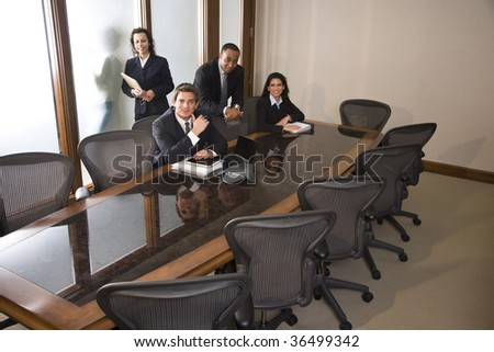 Multi-ethnic business team in boardroom