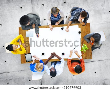 Multi-Ethnic Group Of People in Discussion