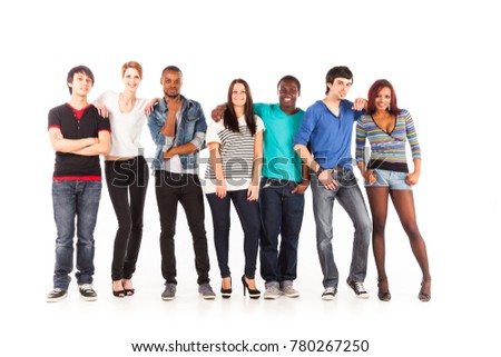 Multi-ethnic Group Of Young Adults #780267250