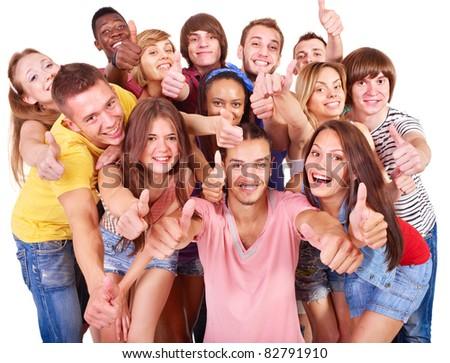 Multi-ethnic group people  Isolated.