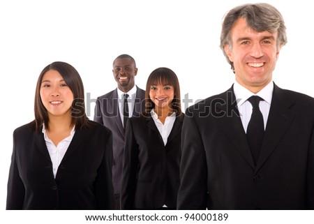 multi-ethnic team - stock photo
