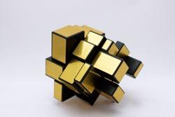 Multi-faceted representation of cubism, multi level cube.
