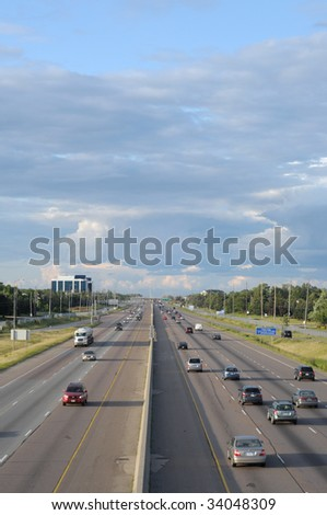 Multi-lane highway