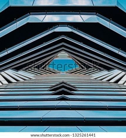 multi-layered architecture, futuristic landscape. Futuristic design #1325261441