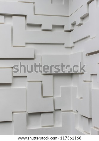 Multi levels wall made by cement rendering