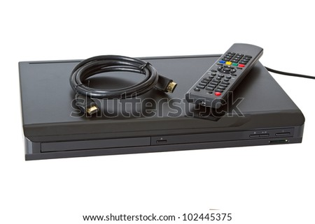 Multi Media blue ray player  on white background