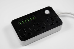Multi port USB and Extension plug for UK, EU, AU region.