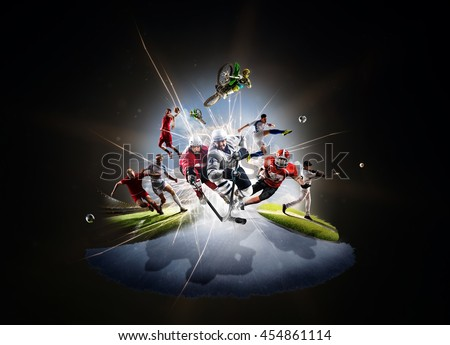 Shutterstock Multi sports collage soccer basketball hockey footbal baseball dirt bike