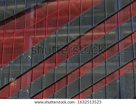 Multi-storey car park steel exterior  Stok fotoğraf ©