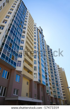 multi-storey, residential new home on a sunny day