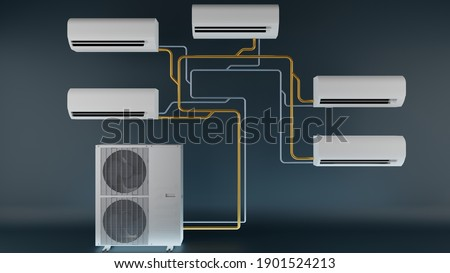 multi-system air conditioner one outdoor unit and several indoor units