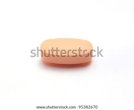 multi-vitamin on white background