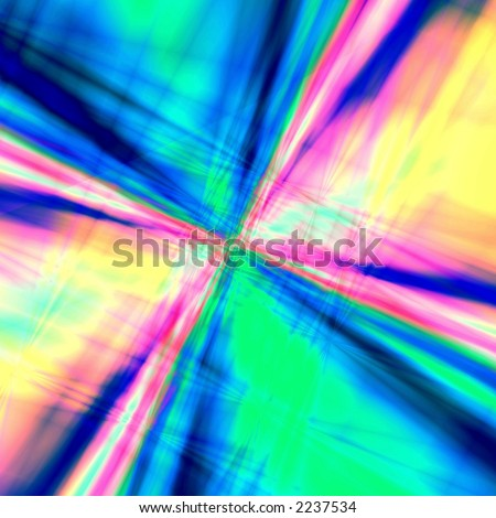 Multicolor abstract star