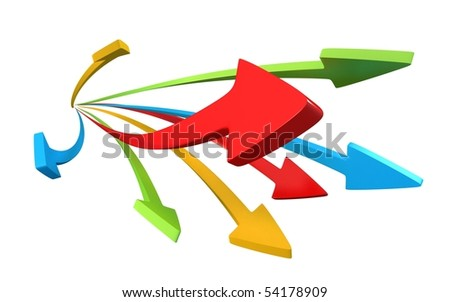 Multicolor Arrows (isolated)