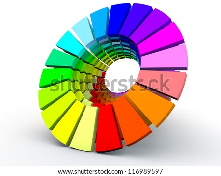 Multicolor Circle over white Background