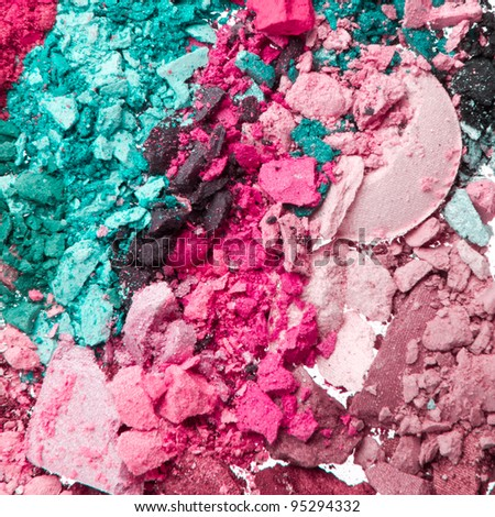 multicolor crushed eyeshadows as a background