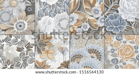 Multicolor Digital Wall Tile Decor For interior Home or Ceramic wall tile Design, Heavily Mixed Wall Art Decor For Home, wallpaper, linoleum, textile, web page background. - Illustration