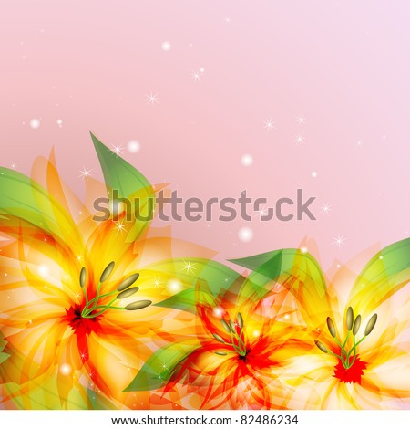 multicolor floral design