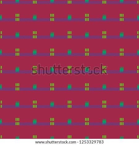 Multicolor geometric jeans tissue background pattern seamless.