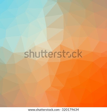 Multicolor gradient geometric pattern. Triangles background. Polygonal raster abstract background image for websites and designs