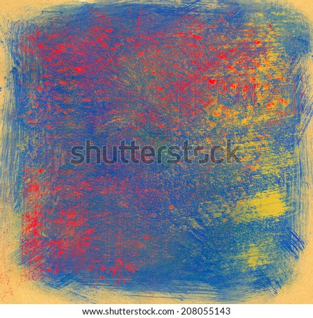 Multicolor hand made background. Bitmap format.