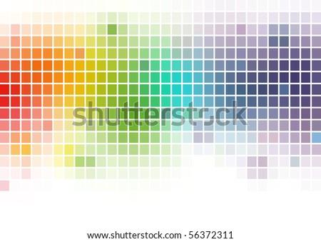 Multicolor Mosaics Background