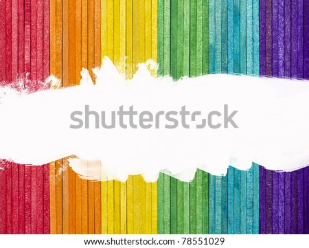 Multicolor of wood stick with space for your text