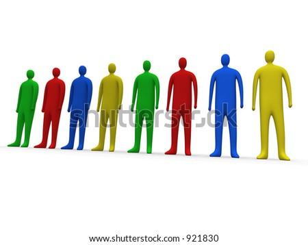 Multicolor people #1