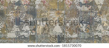 Multicolor Rustic 3D Digital Wall Tile Decor For interior Home or Rustic Ceramic wall tile Design, Heavily Mixed Wall Art Decor For Home, wallpaper, linoleum, textile, background.