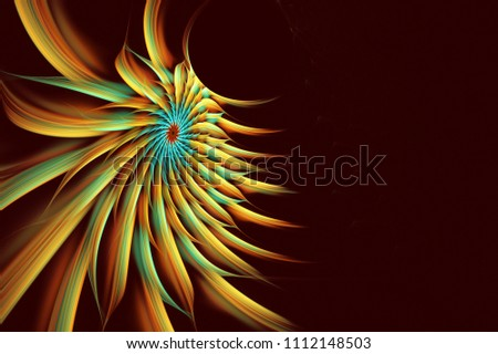 Stock Photo Multicolored abstract fractal flower