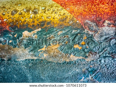 Multicolored abstract texture surface photo