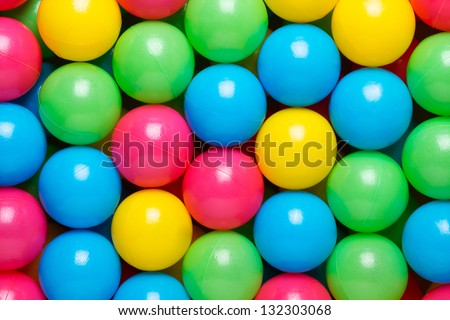 Multicolored balls texture