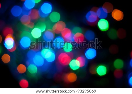 multicolored bokeh - red, green, blue