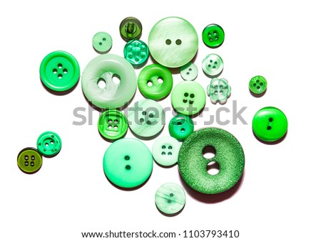 Multicolored buttons isolated background