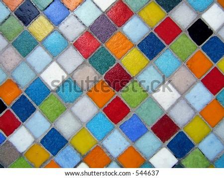 Multicolored ceramic background