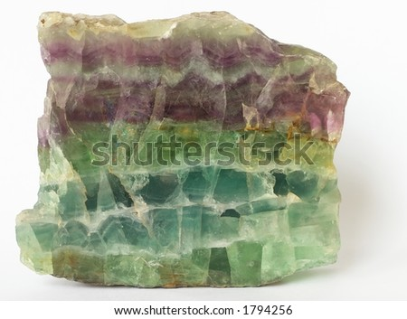 Multicolored crystals of natural fluorite from Transbaikalia