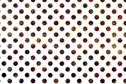 Multicolored dotted template on a white background. Dots isolated on white