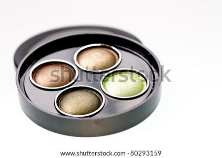 multicolored eye shadows
