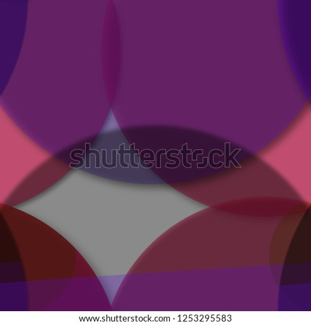 Multicolored geometric circle abstract background seamless pattern.