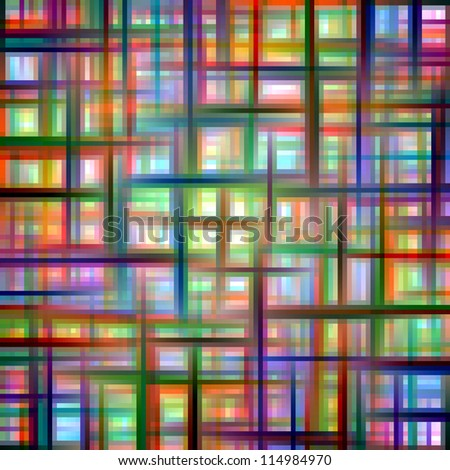 Multicolored grid matrix abstract pattern.