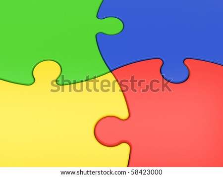 multicolored jigsaw puzzles close-up