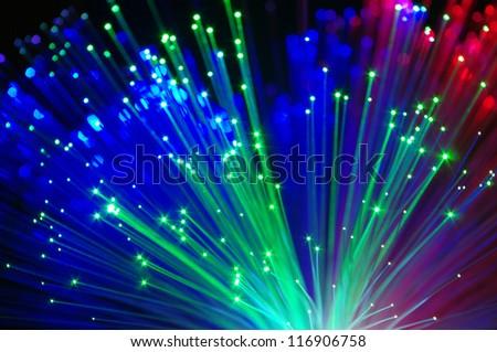 Multicolored lights closeup - stock photo
