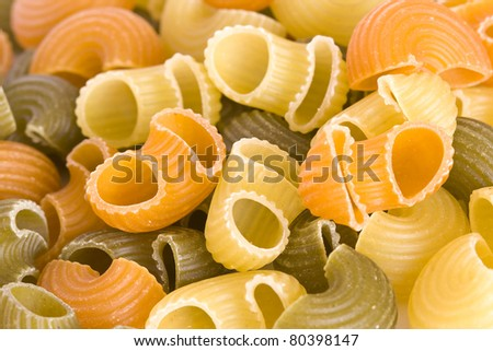 Multicolored Pasta Texture