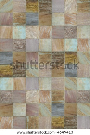 Multicolored patchwork of slate textures