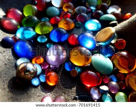 Multicolored pearls  #701691415