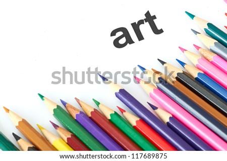 Multicolored pencils - stock photo