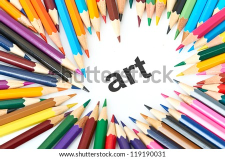 Multicolored pencils - stock photo