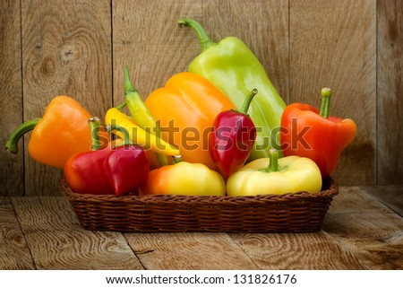 Multicolored peppers - colorful peppers