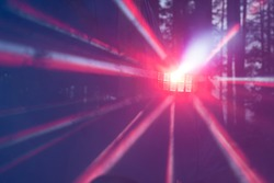 Multicolored rays of light