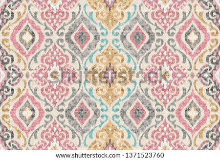 Multicolored Seamless Damask Wavy Effect Pattern For Prints  Сток-фото ©